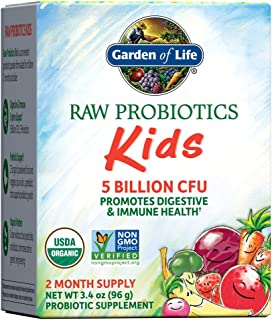 Garden of Life RAW Probiotics Kids - Acidophilus and Bifidobacteria Organic Probiotic Supports Digestive Health & Immune S...