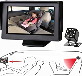 Itomoro Baby Car Mirror, View Infant in Rear Facing Seat with Wide Crystal Clear View,Camera Aimed at Baby-Easily to Obser...