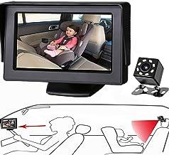 Espejo de coche para bebé de Itomorrowo, para ver al bebé en el asiento trasero con una amplia visión cristalina, cámara orientada al bebé fácilmente para observar cada movimiento del bebé