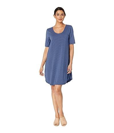Fresh Produce Pinstripe Mika Dress (Moonlight Blue) Women