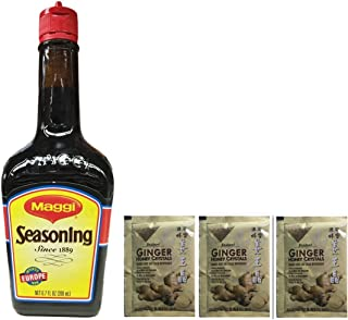 Maggi Seasoning (Imported from German) -6.7Fl Oz (200Ml)Plus a Free Gift Instant Ginger Honey