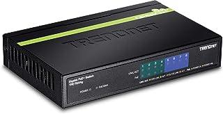 TRENDnet 8-Port Gigabit PoE+ Switch, 4 x Gigabit PoE/PoE+ Ports (Up to 30 Watts/Port), 4 x Gigabit Ports, 61.6W PoE Power ...