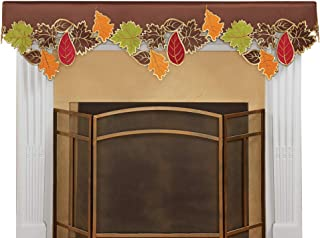 Colorful Fall Leaf Applique Cutout Mantel Scarf to Instantly Add a Touch of Seasonal Style