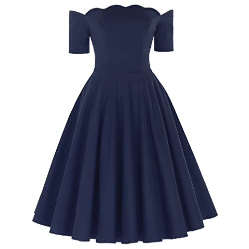 Belle Poque Women Vintage Retro 1950's Off Shoulder Dress GF126