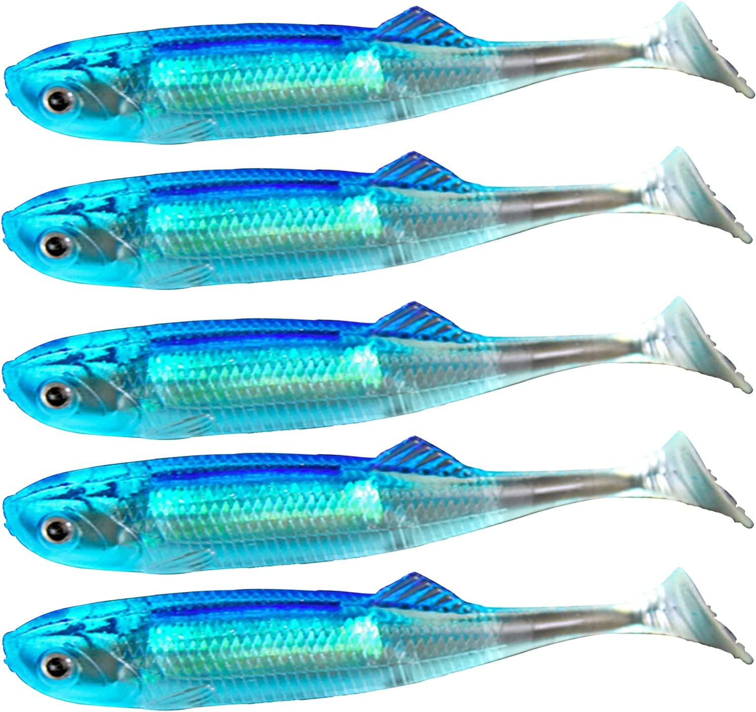 Bargain Soft Fishing Lure for Chicago Mall Bass Plastic Paddle Swimbait Tail Bas