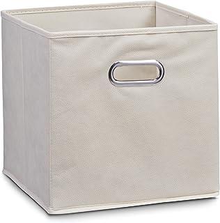 comprar comparacion Zeller 14131 - Caja de almacenaje de tela, plegable, 28 x 28 x 28 cm, color beige