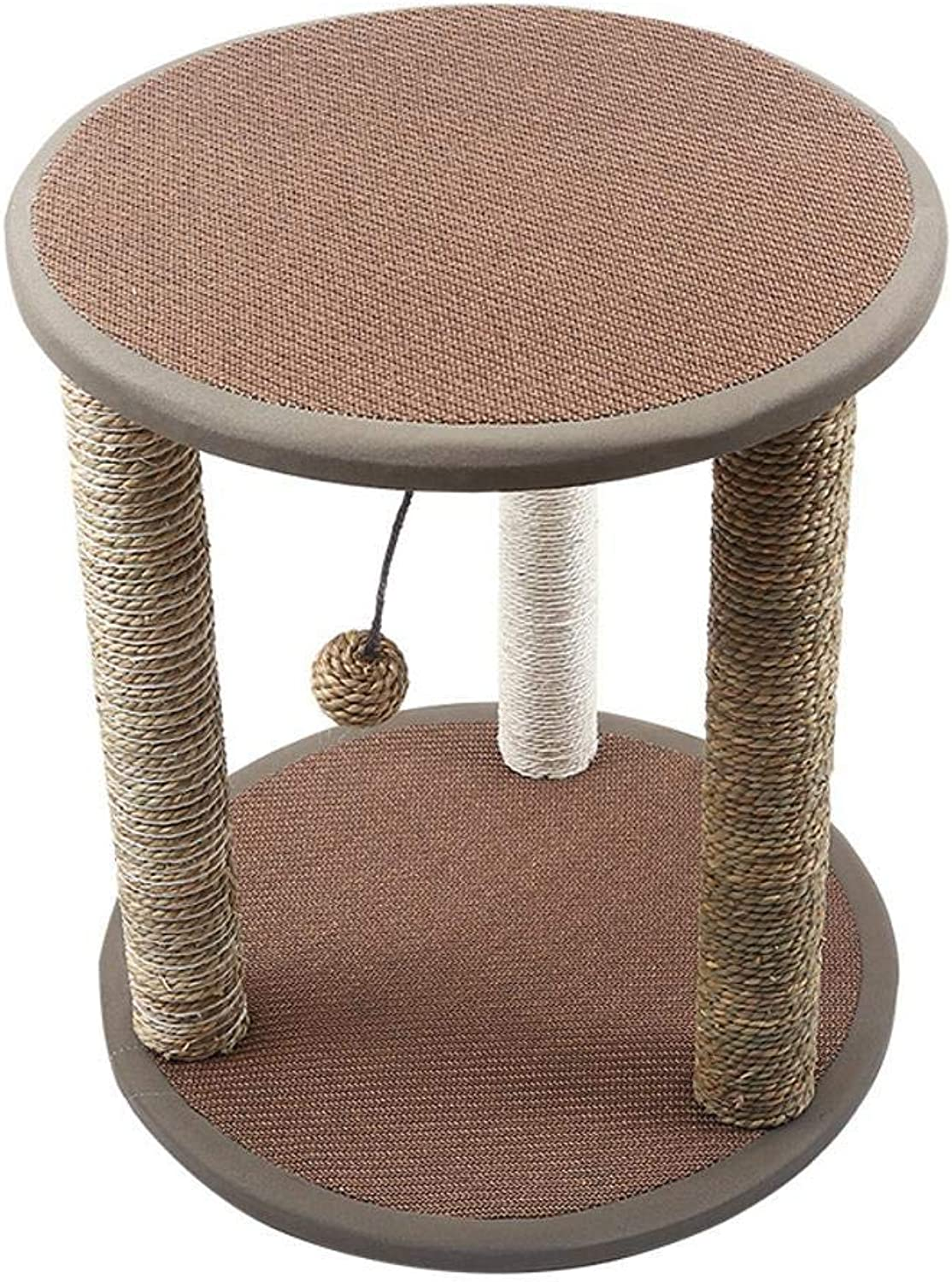 Hexiansheng Cat Climb Trees Sisal Cat Nest Room cat Tree cat Toy Hollow Board Cat Scratch pillar Cat claw size cat platform 50  50  54cm