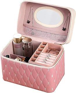 Make-Upkoffer, Draagbare Make-Upkoffer, Mode PU Multifunctionele Make-Uptas Met Grote Capaciteit Draagbaar Voor Reisopslag...