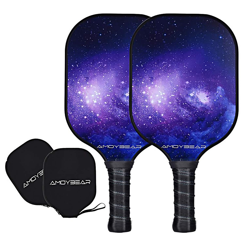 Amoybear Pickleball Paddle Set Graphite Pickleball Racket wi
