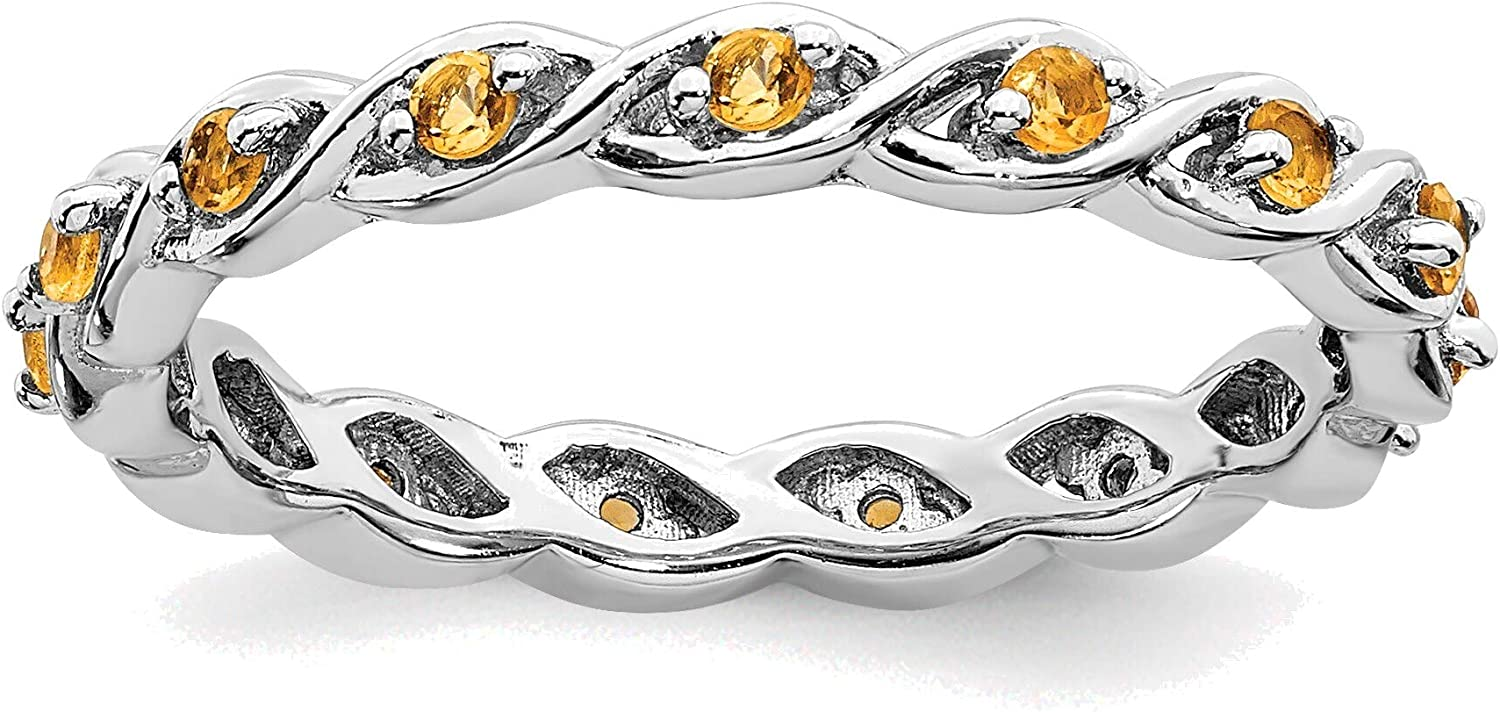Raleigh Mall Bonyak Max 49% OFF Jewelry Solid Sterling Expressions Silver Citri Stackable