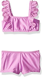Little Girls' Frill Mini Tube Boyleg Swimsuit