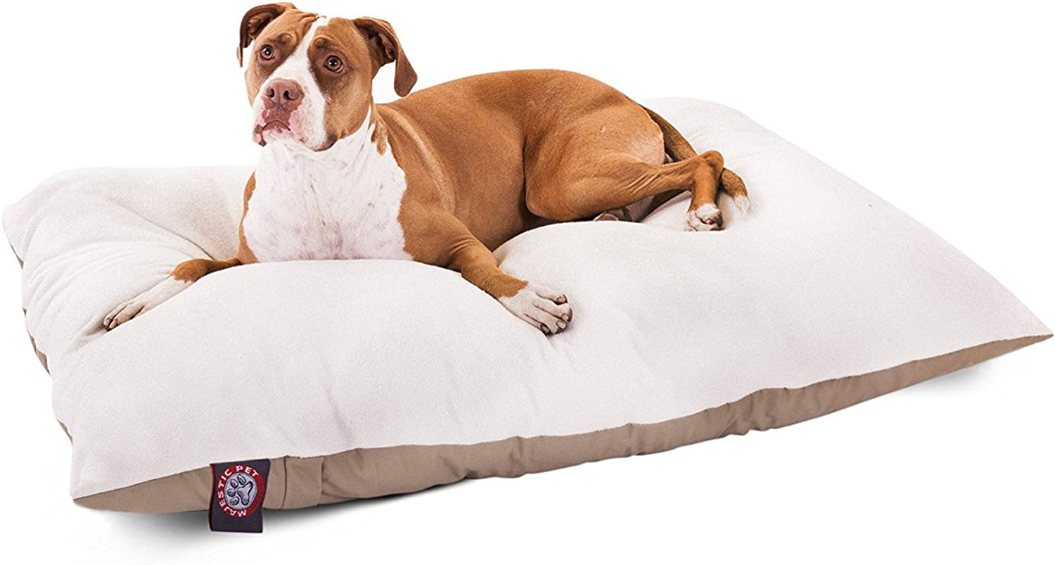 Majestic Pet 36Inch x 48Inch Rectangle Pet Bed By Majestic Pet Products, Large, Khaki