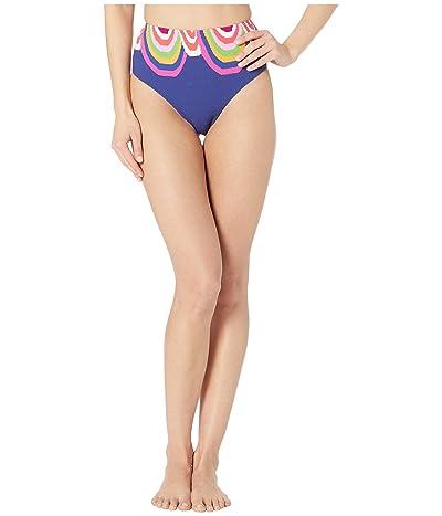 Trina Turk Rainbow Swirl High-Waist Bottoms (Ultramarine) Women
