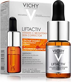 Vichy LiftActiv Vitamin C Serum and Brightening Skin Corrector, Anti Aging Serum for Face with 15% Pure Vitamin C, Hyaluronic Acid and Vitamin E, for Brighter, Firmer Skin