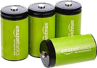 Amazon Basics D cel oplaadbare batterijen 10000 mAh Ni-MH, verpakking van 4 stuks