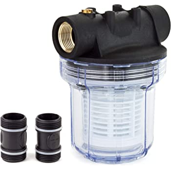 Powxg94f1 Wasserfilter Feinfilter Fur Gartenpumpen Amazon De Garten