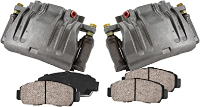 CCK11679 [2] FRONT Premium Loaded OE Caliper Assembly Set + Quiet Low Dust Ceramic Brake Pads