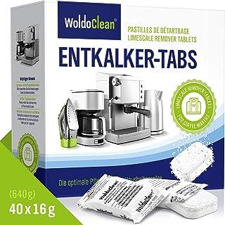 Détartrant Tablettes pour machine à café - 40x Comprimés détartrants compatible avec Delonghi Saeco Senseo Siemens