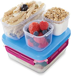 Rubbermaid LunchBlox Leak-Proof Entree Lunch Container Kit, Small, Beet Red 2000578