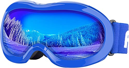 Kids Ski Goggles, Snowboard Goggles - AKASO Snow Goggles for Youth, Kids & Teenagers, Anti-Fog, 100% UV Protection, D...