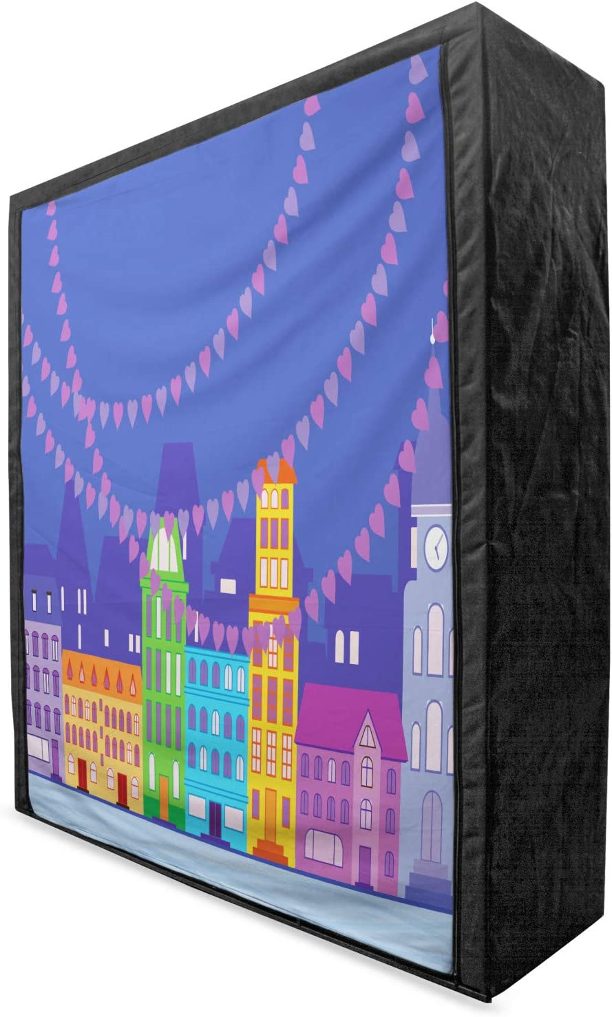 sold out Lunarable 2021 spring and summer new City Love Portable Fabric Wardrobe Scandi Traditional