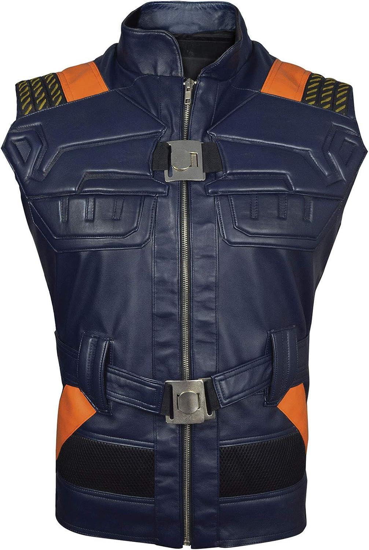 The Jasperz Erik Killmonger Leather Vest-MIcael B Jordan Panther Vest, XXS-3XL