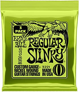 Ernie Ball Regular Slinky Nickel Wound Sets, .010 - .046...