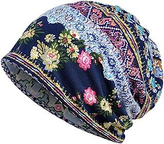 VigorY Women's Baggy Slouchy Beanie Chemo Hat Cap Infinity Scarf Unisex Print Beanie Hat