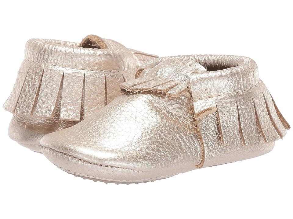 Freshly Picked Mini Sole Moccasins (Infant/Toddler) (Platinum) Girls Shoes