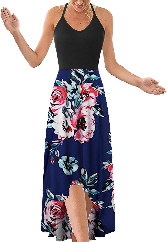 Women's Summer Spaghetti Strap Maxi V-Neck Boho Dress Sleeveless Special price Super special price