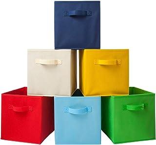 Homelife Lot de 6paniers de Rangement Pliables en Forme de Cube pour Le Linge, la literie, Les Jouets et Autres