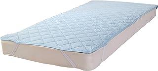 いろどりSTREET ベットパッド・敷きパッド 接触冷感 抗菌防臭 接触冷感 抗菌防臭ブルー シングル