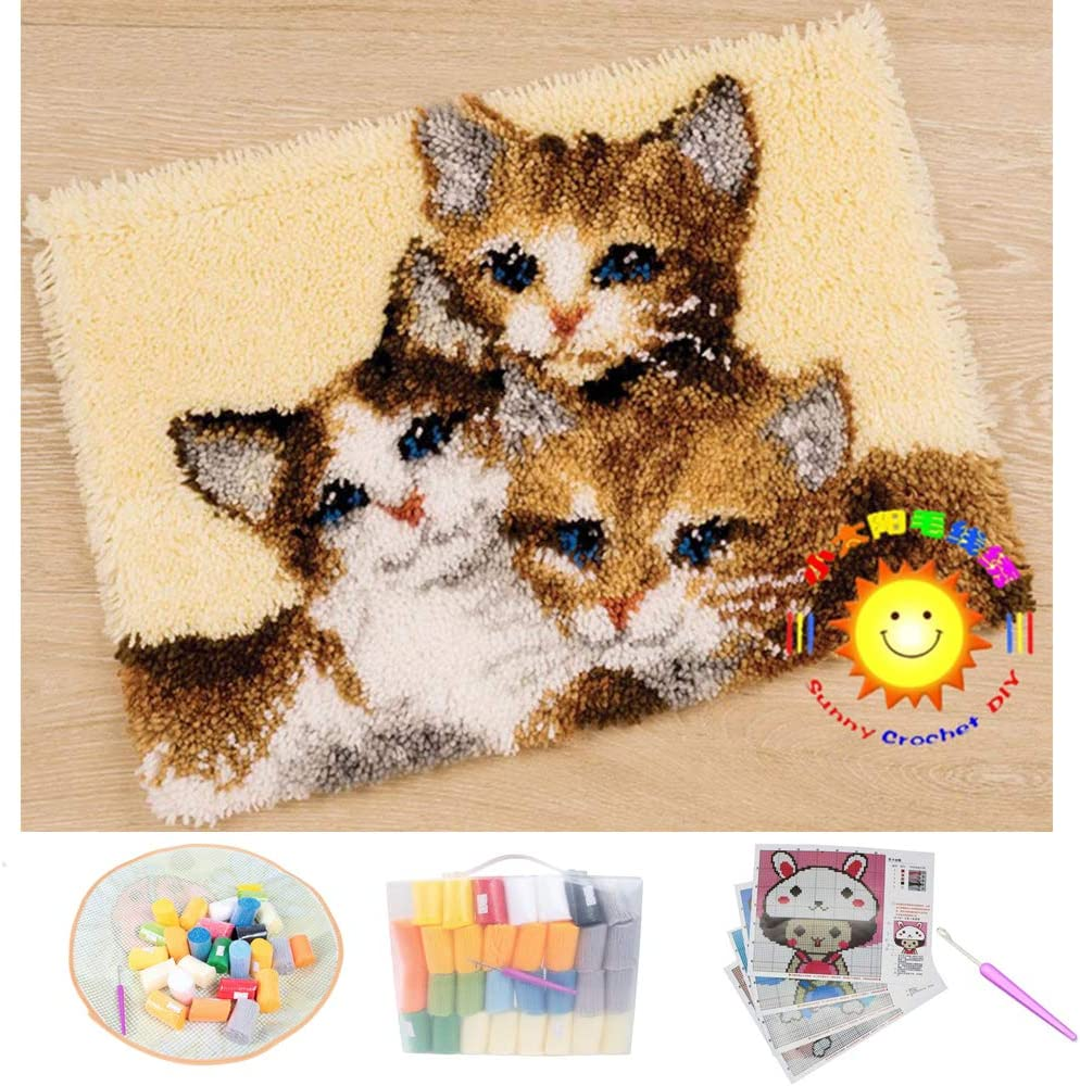 Latch Hook Kits Cute Recommended Pet Clearance SALE! Limited time! Pattern DIY Decor Cushion Shaggy Carpet