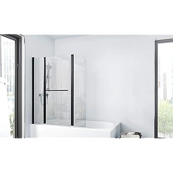 Marwell BWF385 Factory - Pared plegable para bañera, color negro ...