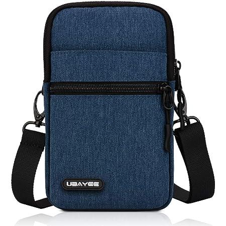 UBAYEE Kleine Handy Umhängetasche bis zu 6,7 Zoll, Herren Handytasche Schultertasche mit RFID-Blockierung Fach - Marineblau