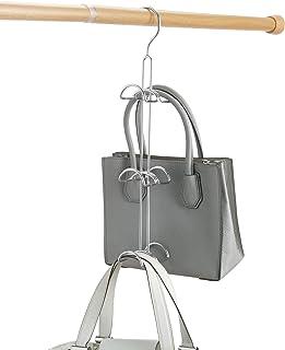 iDesign rangement sac pour la penderie ou l'armoire, grand cintre porte sac en métal à 6 crochets, rangement dressing pour...