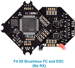 BETAFPV 2S F4 FC Brushless Flight Controller ESC OSD Smart Audio (No RX) with XT30 Cable for 2S Brushless FPV Whoop Drone Beta75X Beta65X
