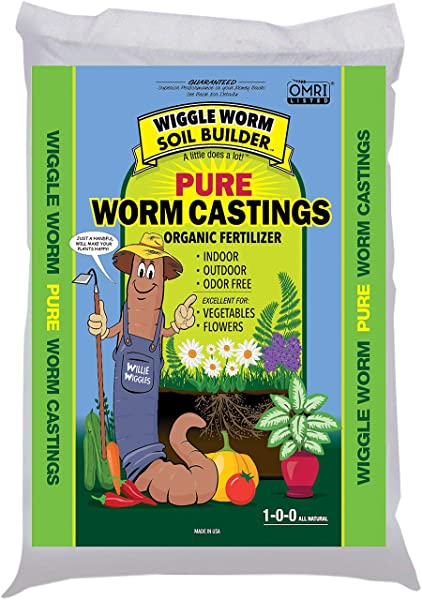 Wiggle Worm WWSB30LB Unco Industries Builder Worm Castings 30 Lb Compost Soil 30 Pound