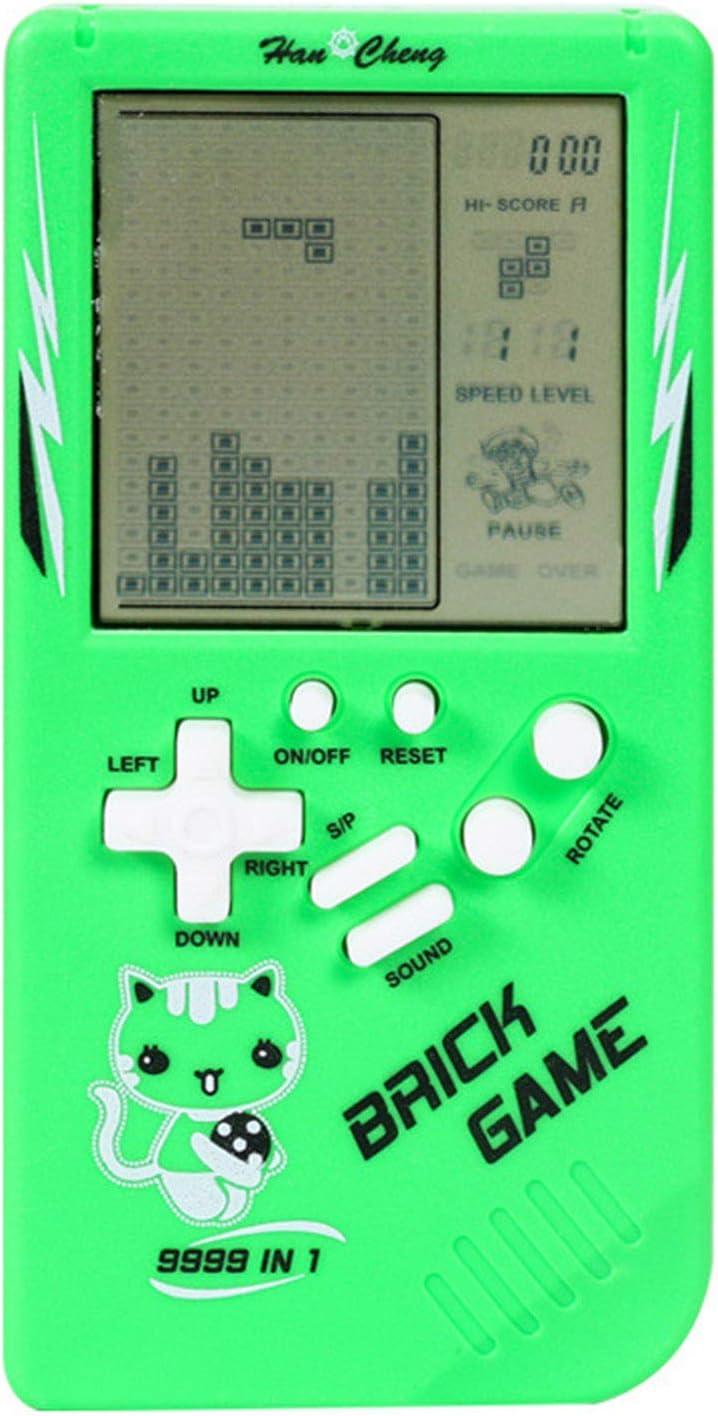 juego de ladrillo port/átil de mano cl/ásico nost/álgico juguete de descompresi/ón Xindian Consola de juegos de mano retro para ni/ños amarillo pantalla grande de 3.5 pulgadas