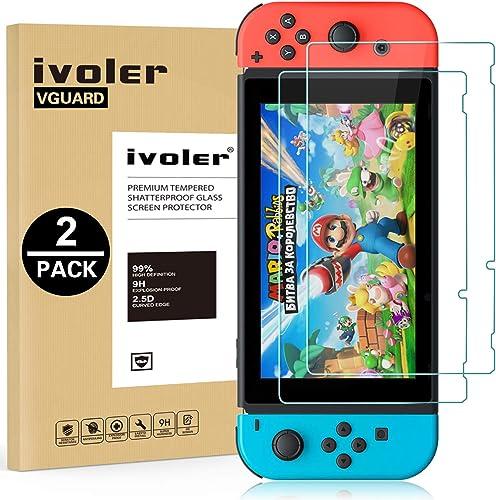 ivoler Pack de 2 Verre Trempé Compatible avec Nintendo Switch, Film Protection écran en Verre Trempé - sans Bulles d'...