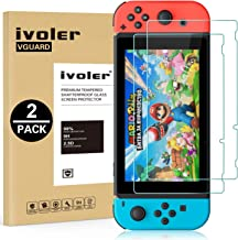 ivoler Skärmskydd för Nintendo Switch, [9H hård] [Anti-repor] [fri från bubbla] [2,5D rund kant], 2 - Pack