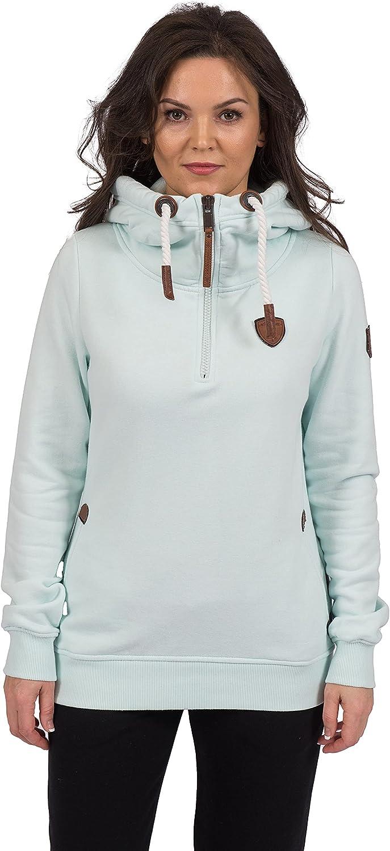 Wanakome Women's Artemis Half Zip Pullover Terry Hoodie Mint
