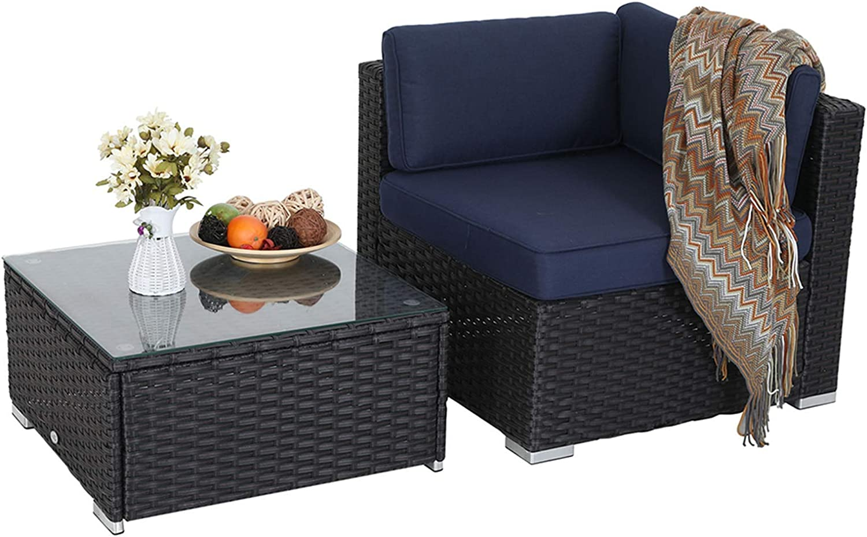 MFSTUDIO 2 Piece 25% OFF Patio Sectional Set Furniture Sofa Ranking TOP9 Wic