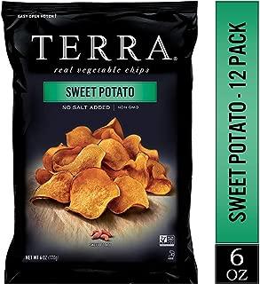 TERRA Sweet Potato Chips, No Salt Added, 6 oz. (Pack of 12)