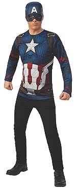 Rubie's Men's Marvel: Avengers 4 Captain America Costume Top & Mask Adult Costume