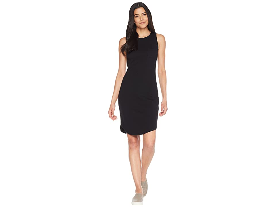 Three Dots Heritage Knit Tank Dress (Black) Women