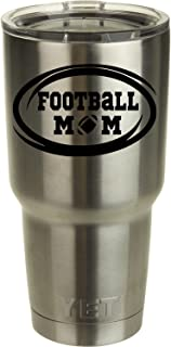 Football Mom Decal for Yeti Tumbler Decal Ozark Trail Tumber decal Black or White Decals 2.7