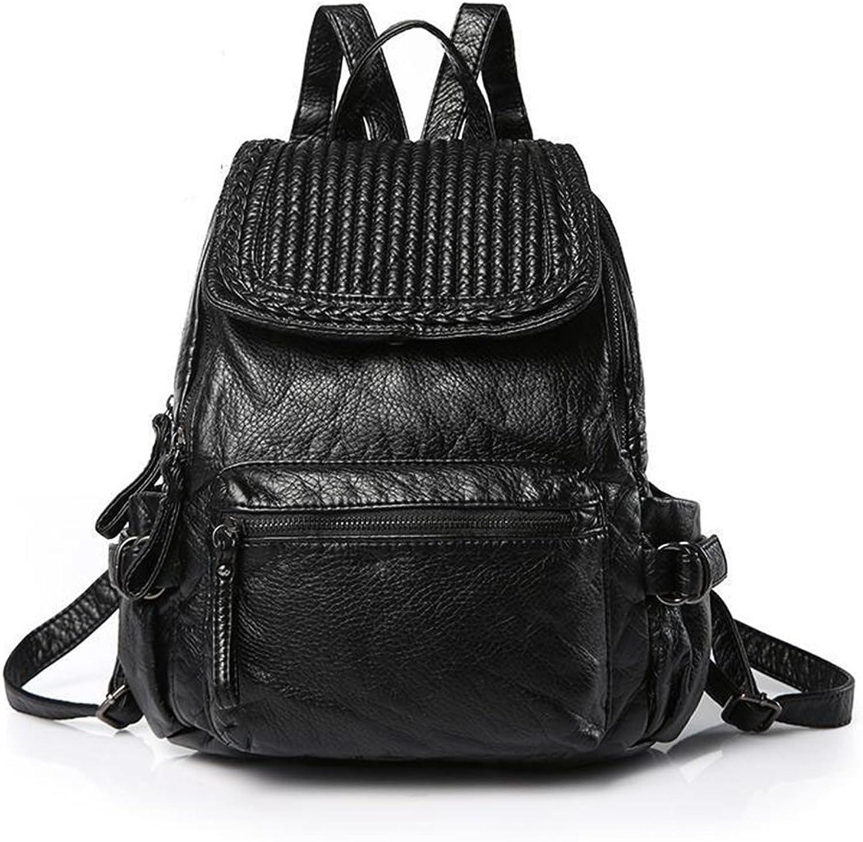 Jxth Hohe Kapazität Casual Damen Rucksack gewebt Muster Reißverschluss wasserdicht PU Daypack Travel Outdoor Shopping (Farbe  schwarz) Schulter Handtasche B07G1J9L8F | Geeignet für Farbe