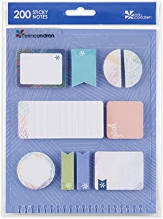 Erin Condren Designer Accessories Snap - in StylizedSticky Notes - Colorful Woven Wonder Design Theme