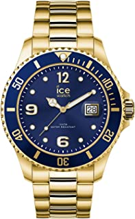 Ice-Watch - Ice Steel Gold Blue - Montre Dorée Mixte avec Bracelet en Metal - 016761 (Medium)